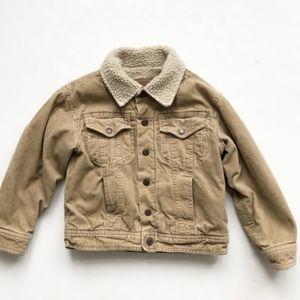 GAP Kids Sherpa Corduroy Jacket Size 5-6 Tan